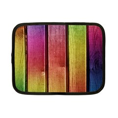 Colourful Wood Painting Netbook Case (small)