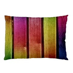 Colourful Wood Painting Pillow Case