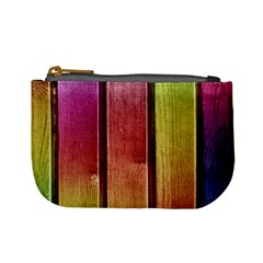 Colourful Wood Painting Mini Coin Purses