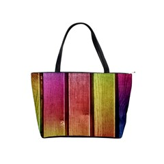 Colourful Wood Painting Shoulder Handbags