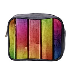 Colourful Wood Painting Mini Toiletries Bag 2 Side