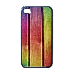 Colourful Wood Painting Apple iPhone 4 Case (Black)