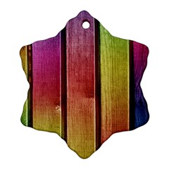 Colourful Wood Painting Ornament (snowflake)