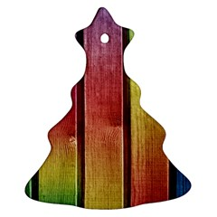 Colourful Wood Painting Christmas Tree Ornament (Two Sides)