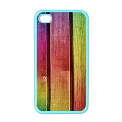 Colourful Wood Painting Apple iPhone 4 Case (Color)