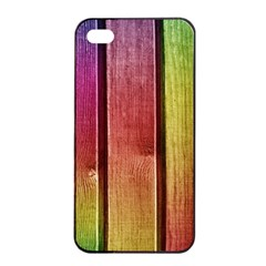 Colourful Wood Painting Apple iPhone 4/4s Seamless Case (Black)