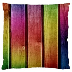 Colourful Wood Painting Large Cushion Case (Two Sides)