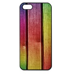 Colourful Wood Painting Apple iPhone 5 Seamless Case (Black)