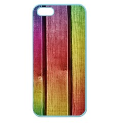 Colourful Wood Painting Apple Seamless iPhone 5 Case (Color)