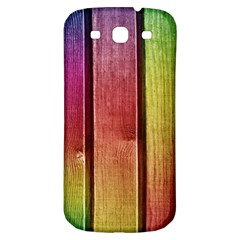 Colourful Wood Painting Samsung Galaxy S3 S III Classic Hardshell Back Case