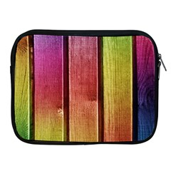 Colourful Wood Painting Apple Ipad 2/3/4 Zipper Cases