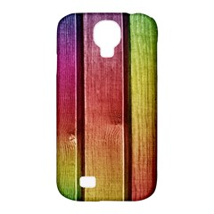 Colourful Wood Painting Samsung Galaxy S4 Classic Hardshell Case (PC+Silicone)