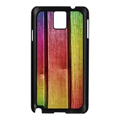 Colourful Wood Painting Samsung Galaxy Note 3 N9005 Case (Black)