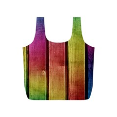 Colourful Wood Painting Full Print Recycle Bags (s)