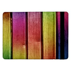 Colourful Wood Painting Samsung Galaxy Tab Pro 12 2  Flip Case