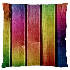 Colourful Wood Painting Large Flano Cushion Case (two Sides)