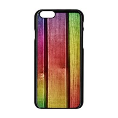 Colourful Wood Painting Apple Iphone 6/6s Black Enamel Case