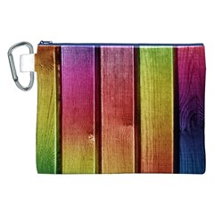 Colourful Wood Painting Canvas Cosmetic Bag (xxl)