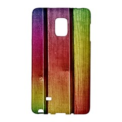 Colourful Wood Painting Galaxy Note Edge