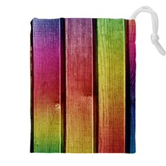 Colourful Wood Painting Drawstring Pouches (XXL)