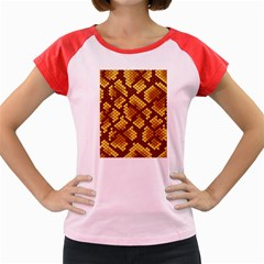 Snake Skin Pattern Vector Women s Cap Sleeve T-Shirt