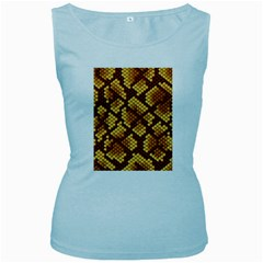 Snake Skin Pattern Vector Women s Baby Blue Tank Top