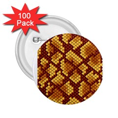 Snake Skin Pattern Vector 2.25  Buttons (100 pack)