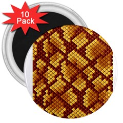 Snake Skin Pattern Vector 3  Magnets (10 pack)