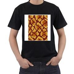 Snake Skin Pattern Vector Men s T Shirt (black) (two Sided)