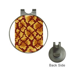 Snake Skin Pattern Vector Hat Clips With Golf Markers