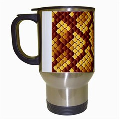 Snake Skin Pattern Vector Travel Mugs (white)