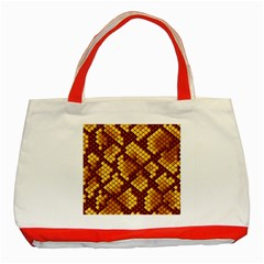 Snake Skin Pattern Vector Classic Tote Bag (red)