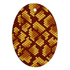 Snake Skin Pattern Vector Oval Ornament (two Sides)