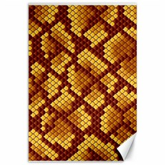 Snake Skin Pattern Vector Canvas 12  X 18