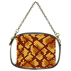 Snake Skin Pattern Vector Chain Purses (one Side)
