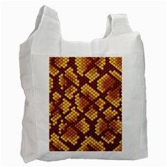 Snake Skin Pattern Vector Recycle Bag (one Side)