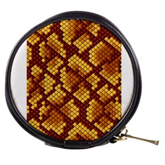 Snake Skin Pattern Vector Mini Makeup Bags