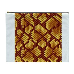 Snake Skin Pattern Vector Cosmetic Bag (XL)