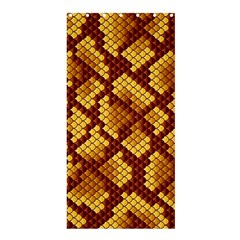 Snake Skin Pattern Vector Shower Curtain 36  x 72  (Stall)
