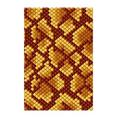 Snake Skin Pattern Vector Shower Curtain 48  x 72  (Small)