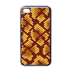 Snake Skin Pattern Vector Apple iPhone 4 Case (Black)