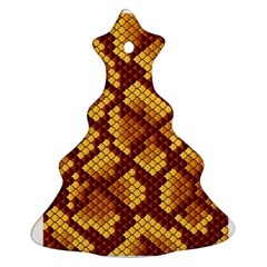 Snake Skin Pattern Vector Christmas Tree Ornament (two Sides)