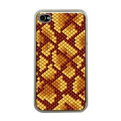 Snake Skin Pattern Vector Apple iPhone 4 Case (Clear)