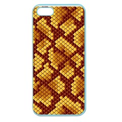 Snake Skin Pattern Vector Apple Seamless Iphone 5 Case (color)