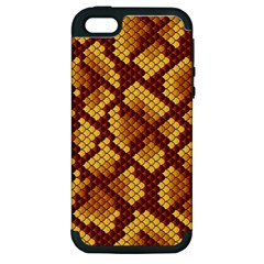 Snake Skin Pattern Vector Apple Iphone 5 Hardshell Case (pc+silicone)