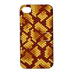 Snake Skin Pattern Vector Apple Iphone 4/4s Hardshell Case With Stand