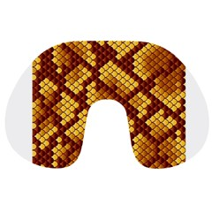Snake Skin Pattern Vector Travel Neck Pillows