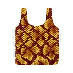 Snake Skin Pattern Vector Full Print Recycle Bags (M)
