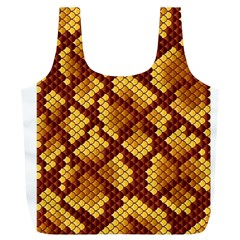 Snake Skin Pattern Vector Full Print Recycle Bags (L)