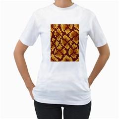 Snake Skin Pattern Vector Women s T-Shirt (White)